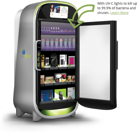 Vending Machines with Sanitizing Lights