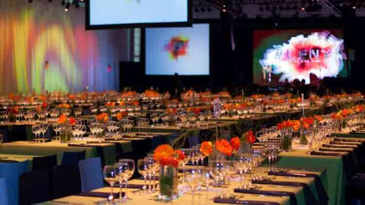 Basketball City is an ideal catered events venue for awards dinners