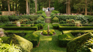 NY Garden Wedding Venue with a three-tiered formal garden surrounded by woodlands