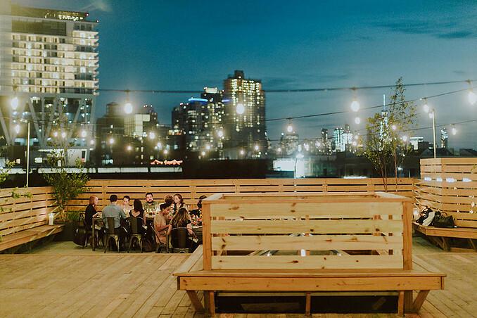 Rooftop wedding space in Brooklyn